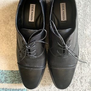 Black Leather Men's Dress Shoes, Never Worn